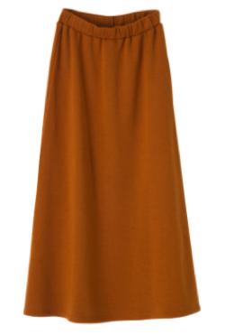 aquagarage 裏ジャギーマキシ丈スカート