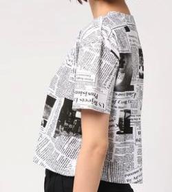 VIBGYOR Women【six mouse】総柄ショート丈Tシャツ