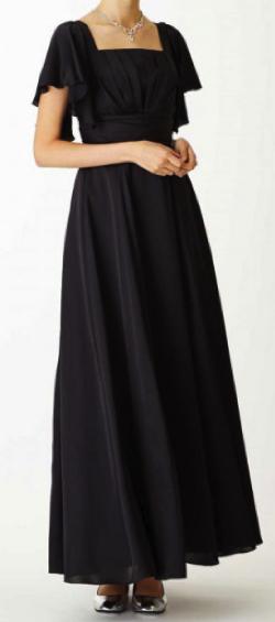 Aimer サテンブラックロングドレス 伴奏用ロングドレス