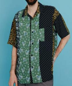 MR.OLIVE クレイジーパターン/オープンカラーシャツ