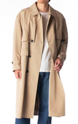 KURO Twisted Yarn Cotton Chino Trench Coat
