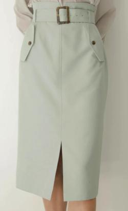 TONAL フラップポケットロングタイトスカート