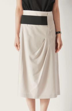 BEATRICE ベルトデザインミディスカート