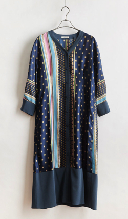 stella ciffon komon scarf print dress