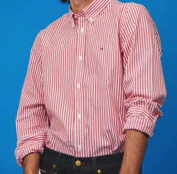 TOMMY HILFIGER ストライプスリムフィットシャツ