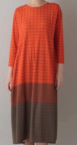 HIROKO KOSHINO スムースロゴ切り替えデザインドレス