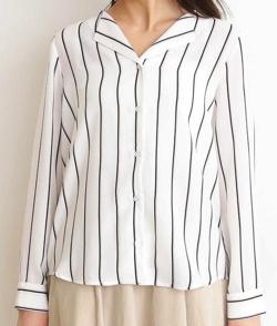 N. Natural Beauty Basic ガルーダツイルシャツ オープンカラー