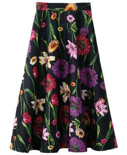 Ranan 大胆花柄フレアースカート