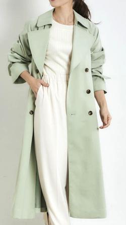 MEW'S REFINED CLOTHES スプリングコートバックコンシャスゆるトレンチコート