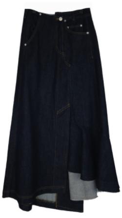 AULA リメイクデニムスカート