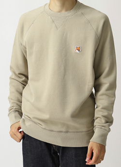 MAISON KITSUNE SWEAT SHIRT FOX HEAD PATCH