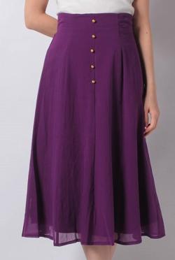 Fabulous Angela 綿ボイル釦付きマーメイドスカート