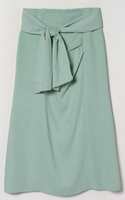 LANVIN en Bleu ドレープタイトスカート