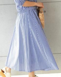 PREFERIR ストライプ マーメイドスカート