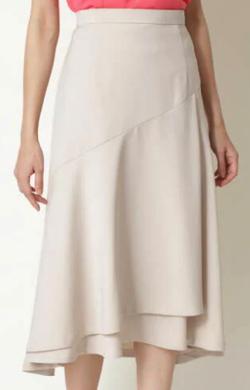NATURAL BEAUTY ストレッチサテンスカート