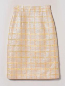 essence of ANAYI イエローチェックタイトスカート