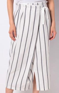 TONAL ストライプアシメタイトスカート