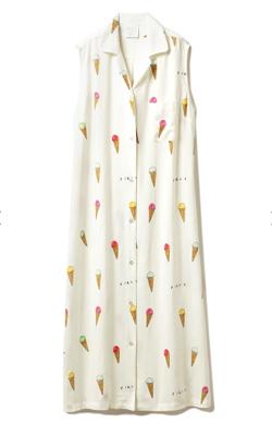 gelato pique アイスモチーフシャツドレス
