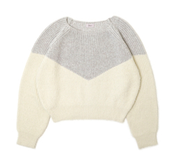 flower silky V knit ~シルキーブイニット