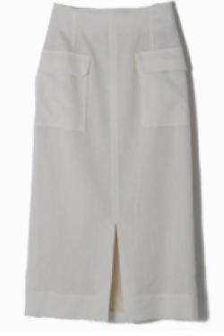 MICA & DEAL センタースリットダブルポケットタイトスカート