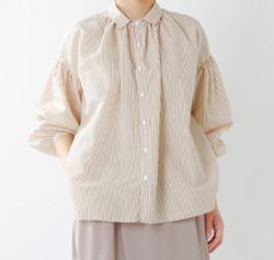 MANON ストライプアミカルシャツ