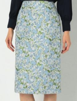 NARACAMICIE フラワージャカードタイトスカート
