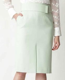 PINKY&DIANNE メタルバーベルト付きタイトスカート