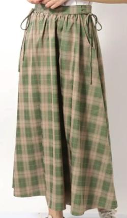 merry jenny Cloudyチェックロングスカート