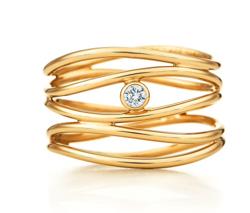 Tiffany&Co. エルサ・ペレッティ™ ウェーブ 5ロウ ダイヤモンド リング