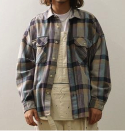 BIG MAC×FREAK'S STORE ビッグシルエットチェックシャツ