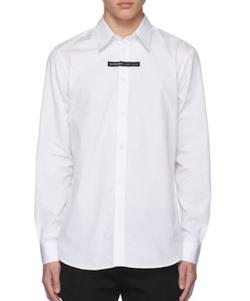 Givenchy(ジバンシー)ホワイト ロゴ テープ シャツ