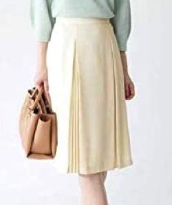 NATURAL BEAUTY(ナチュラル ビューティー)ソフトジョーゼットプリーツスカート