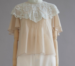 overlace 2020SS victorian lace blouse