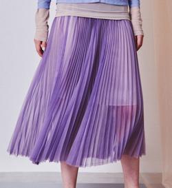 MAISON SPECIAL(メゾンスペシャル), シアーオーガンジーロングプリーツスカート