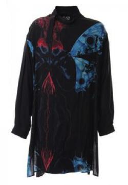 Yohji Yamamoto Deformation stand collar Print blouse