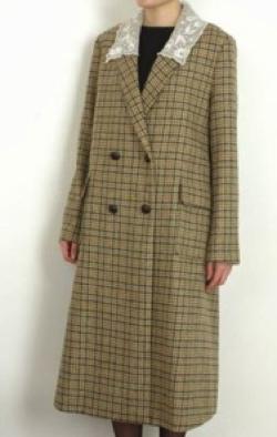 nesessaire Tulle collar long coat