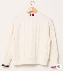 TOMMY HILFIGER コットンニットロープセーター