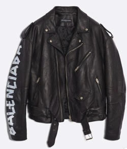 BLENCIAGA PAINTED BIKER JACKET