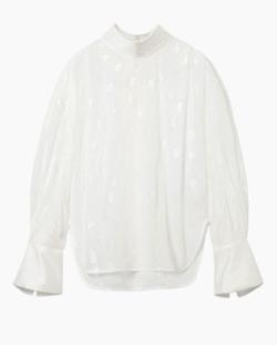Mame Kurogouchi Film Jacquard Shine Shirt