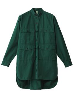nagonstans C/Liウェザー サファリオーバーシャツ