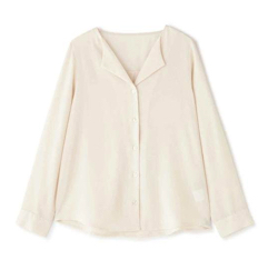 N. Natural Beauty Basic* ガルーダツイルシャツ オープンカラー