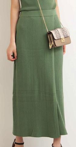 N. Natural Beauty Basic* ハイツイストコットンブレンドセットアップ スカート