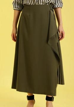 INED サイドプリーツラップスカート