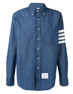 THOM BROWNE 4BAR ストレートフィット シャンブレーシャツ