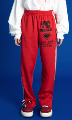 SUPER LOVERS x little sunny bite TRACK PANTS