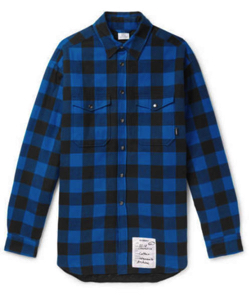 VETEMENTS Oversized Checked Cotton-Flannel Shirt