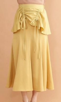 merlot plus ペプラムドロストマーメイドスカート