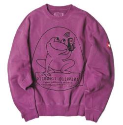 BEAMS T C.E / OVERDYE EASILY COMFORTABLE CREW NECK Sweatshirt