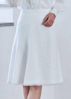 ANAYI ファンシーツイードフレアスカート