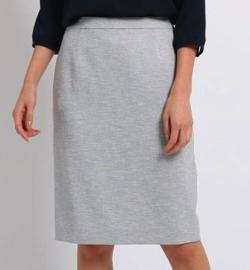 INDIVI リネン風タイトスカート